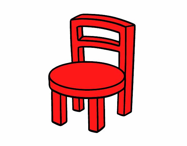 Dibujo de silla redonda pintado por en el d a for Silla facil de dibujar