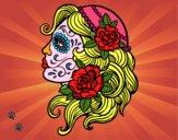 Dibujo Tatuaje de Catrina pintado por cecil13