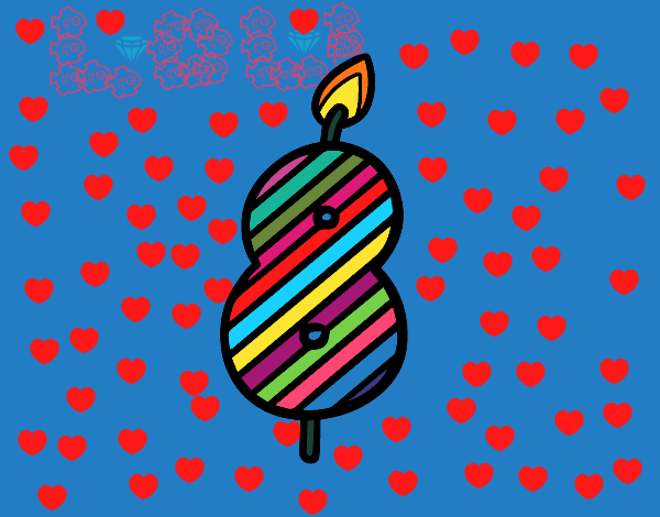 Dibujo de 8 a os pintado por en el d a 14 05 - Fiesta cumpleanos 8 anos ...