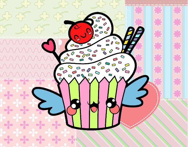 Dibujo Cupcake kawaii con cereza pintado por MariamAmin