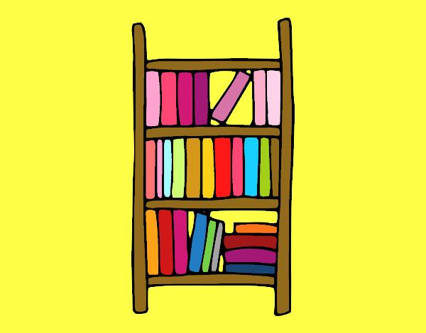Dibujos de estanterias elegant estantera vector libros - Dibujos de estanterias ...