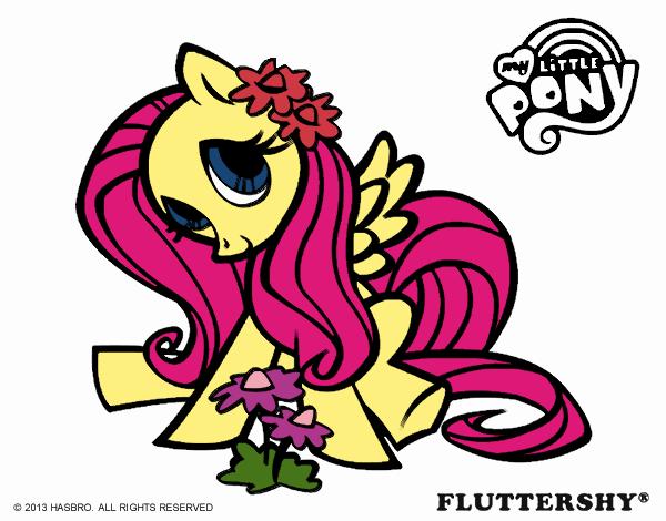 Dibujo De Fluttershy Para Colorear: Dibujo De Fluttershy Pintado Por Micaela16 En Dibujos.net