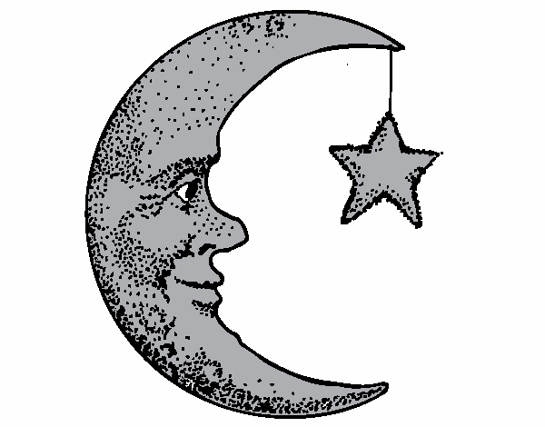 Dibujos De Estrellas Para Colorear E Imprimir: Dibujos Para Colorear De Lunas Y Estrellas