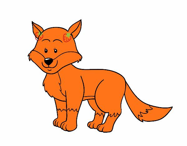 Dibujo de Un zorro pin...