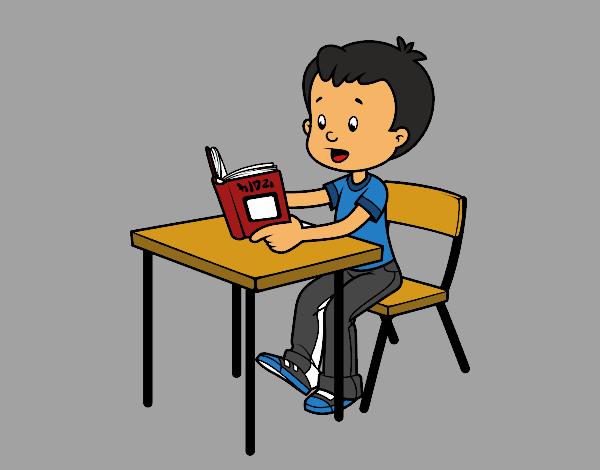 Dibujo De Lecturas De Colegio Para Colorear