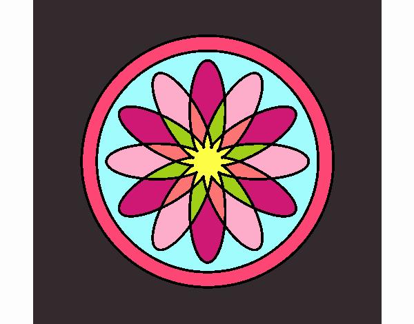 34 Mandalas Para Imprimir Y Colorear: Dibujo De Mandala 34 Pintado Por En Dibujos.net El Día 19
