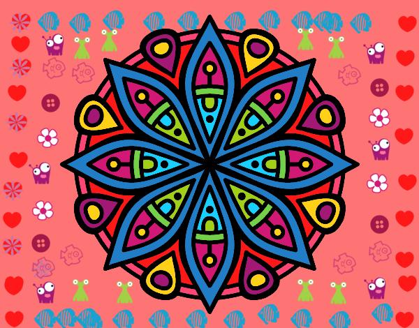 Dibujo de mandala para la concentraci n pintado por en el d a 18 05 16 a las 16 30 - Colores para la concentracion ...