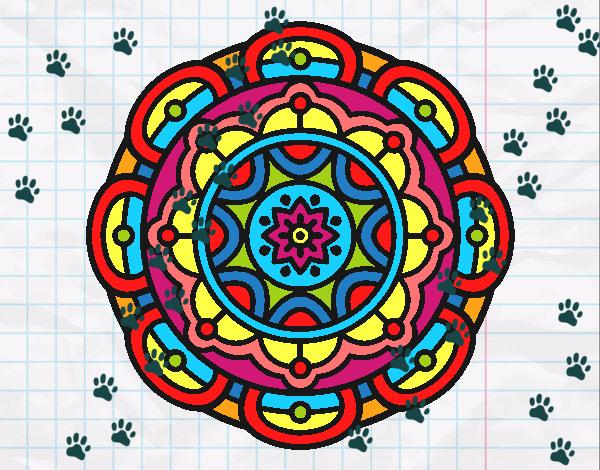 Dibujos De Mandalas Para Colorear Relajarse Y Meditar: Dibujo De Mandala Para La Relajación Mental Pintado Por En