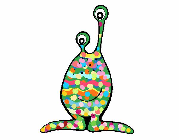 Dibujos De Marcianos Para Colorear: Dibujo De Marciano Pintado Por En Dibujos.net El Día 16-05