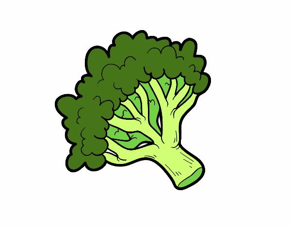 Dibujo De Rama De Brócoli Pintado Por Caryser En Dibujos