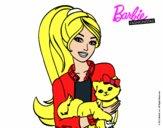 Dibujo Barbie con su linda gatita pintado por 3214112873