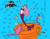 Barbie sirena contenta