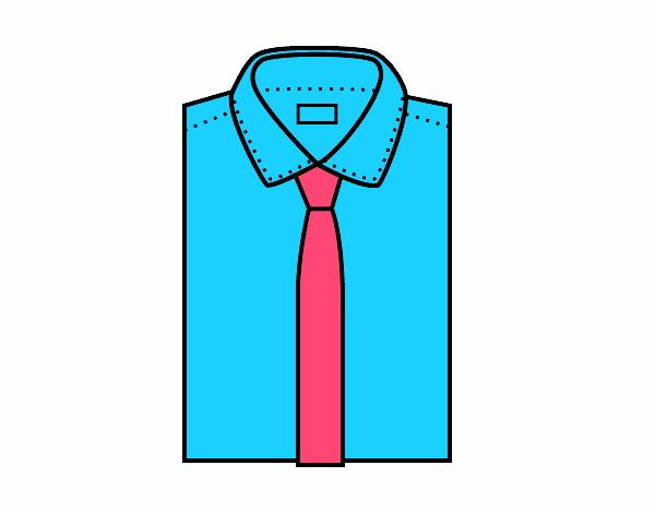 Dibujos De Corbatas Para Imprimir Y Colorear: Dibujo De Camisa Con Corbata Pintado Por En Dibujos.net El