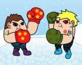 Combate de boxeo