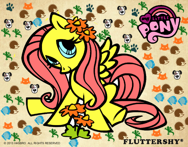 Dibujo De Fluttershy Para Colorear: Dibujo De Fluttershy Pintado Por En Dibujos.net El Día 24