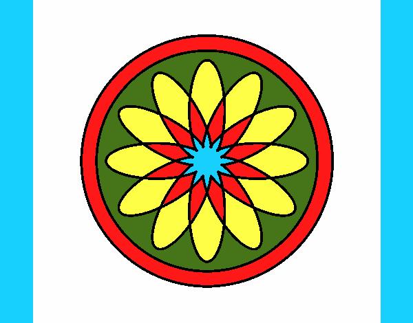 34 Mandalas Para Imprimir Y Colorear: Dibujo De Mandala 34 Pintado Por En Dibujos.net El Día 24
