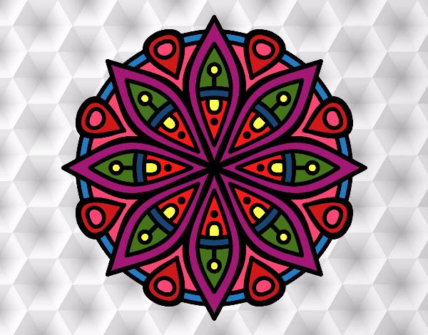 Dibujo de mandala para la concentraci n pintado por en el d a 25 05 16 a las 02 38 - Colores para la concentracion ...