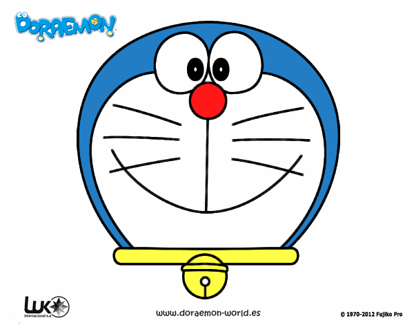 Dibujos Para Colorear E Imprimir De Doraemon: Dibujo De Doraemon, El Gato Cósmico Pintado Por En Dibujos