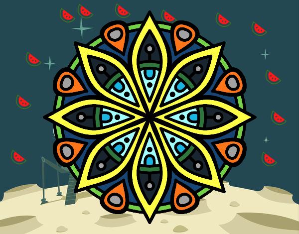 Dibujo de mandala para la concentraci n pintado por en el d a 01 06 16 a las 20 18 - Colores para la concentracion ...