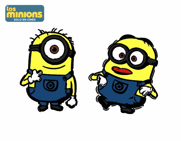 Dibujo de Minions - Carl y Dave pintado por Irena en Dibujos.net el ...