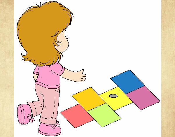 Rayuela Dibujo Para Colorear E Imprimir: Dibujo De Rayuela Pintado Por En Dibujos.net El Día 02-06