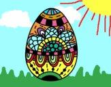 Dibujo Un huevo de Pascua floral pintado por Melisa