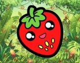 Dibujo Fresa feliz pintado por cookiefox