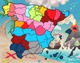 Dibujo Las provincias de España pintado por Fine16