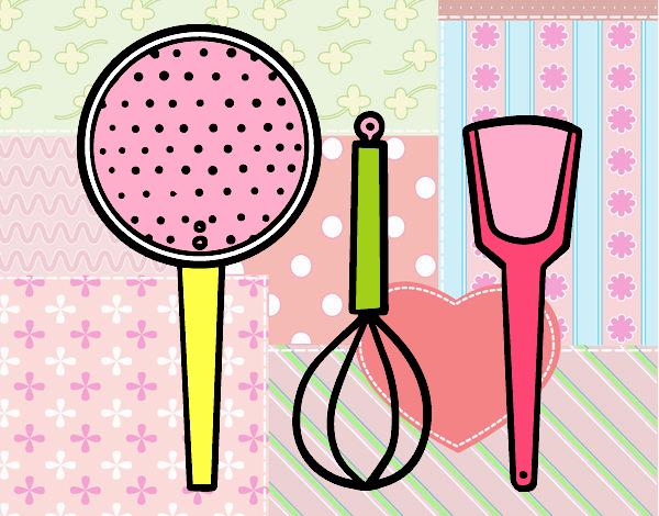 Dibujo de los utensilios de cocina pintado por en dibujos - La cocina en casa ...