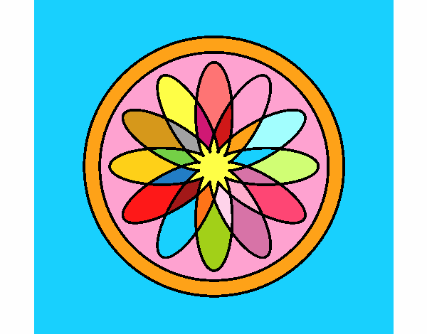 34 Mandalas Para Imprimir Y Colorear: Dibujo De Mandala 34 Pintado Por Marga2016 En Dibujos.net