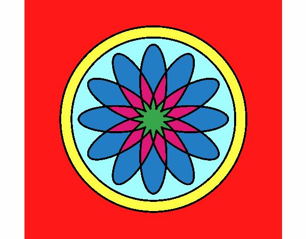 34 Mandalas Para Imprimir Y Colorear: Dibujo De Mandala 34 Pintado Por En Dibujos.net El Día 08