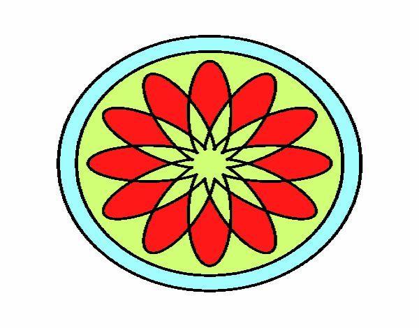 34 Mandalas Para Imprimir Y Colorear: Dibujo De Mandala 34 Pintado Por En Dibujos.net El Día 11