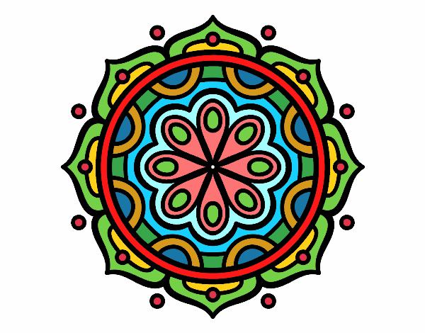 Dibujos De Mandalas Para Colorear Relajarse Y Meditar: Dibujo De Mandala Para Meditar Pintado Por Almagiofg En