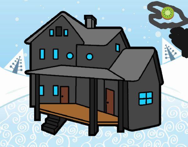 Dibujo de casa con porche pintado por en el - Porche para colorear ...
