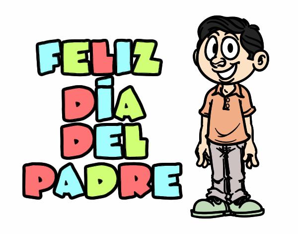 Dibujos Del Dia Del Padre Coloreados: Dibujo De Feliz Día Del Padre Pintado Por Majo5737 En