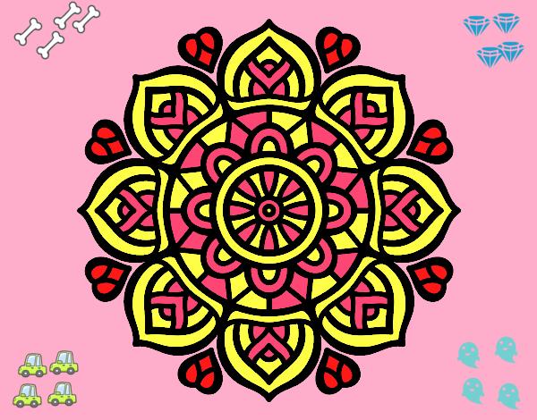 Dibujo de mandala para la concentraci n mental pintado por en el d a 18 06 16 a las - Colores para la concentracion ...