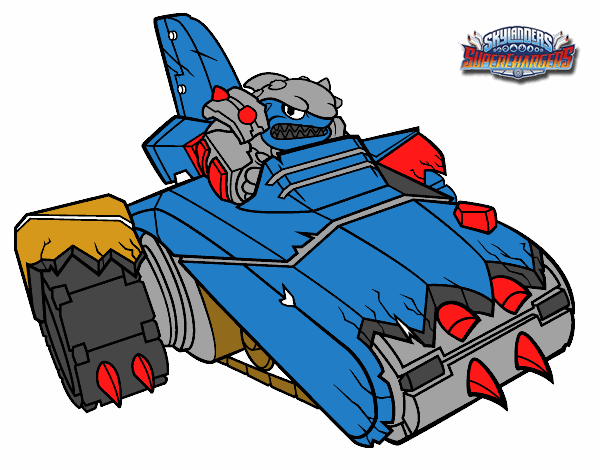 shark shooter terrafin coloring pages - photo#14