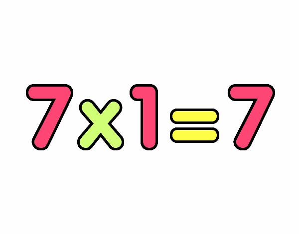 7 x 1