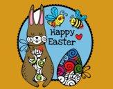 Dibujo Happy Easter pintado por rociiii