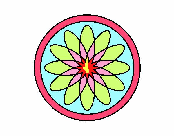 34 Mandalas Para Imprimir Y Colorear: Dibujo De Mandala 34 Pintado Por En Dibujos.net El Día 25