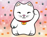 Maneki-neko blanco