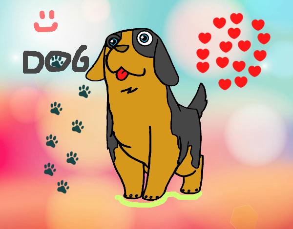 Dibujo De Perritos Tiernos Pintado Por En Dibujos.net El