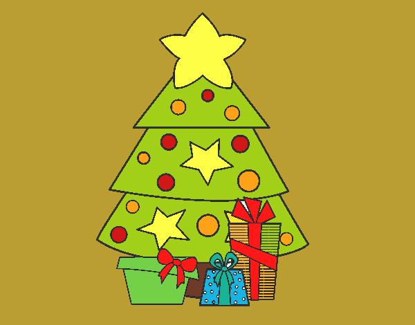 Dibujo de regalos de navidad 2 pintado por en for Dibujos de navidad pintados