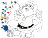 Santa Claus y un árbol de navidad