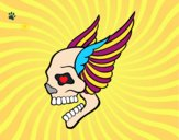 Tatuaje de calavera con alas