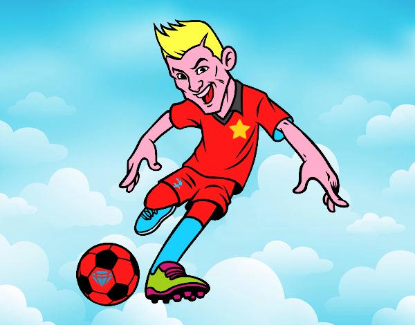 Dibujo De Delantero De Futbol Para Colorear