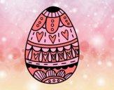 Dibujo Huevo de Pascua con corazones pintado por sara_132
