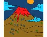 Dibujo Monte Fuji pintado por isimar