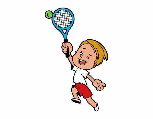 Dibujo de Niño jugando a tenis pintado por en Dibujos.net ...