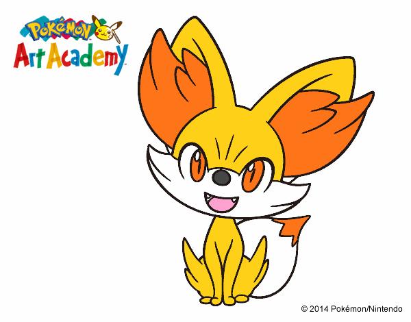Dibujos De Pokemon A Color: Dibujo De Fennekin Pintado Por En Dibujos.net El Día 04-07